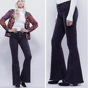 Free People moto bell bottoms